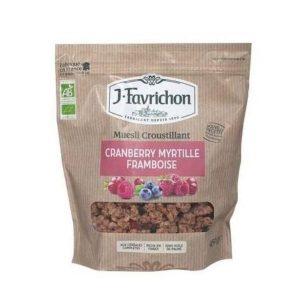 MUESLI CRANBERRY MYRTILLE FRAMBOISE 450g - FAVRICHON / CANOPY