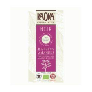 CHOCOLAT NOIR 66% RAISINS ET AMANDES 100g - KAOKA / CANOPY