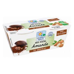 DESSERT VÉGÉTAL AMANDE CHOCOLAT 2X100g - GRANDEUR NATURE / CANOPY