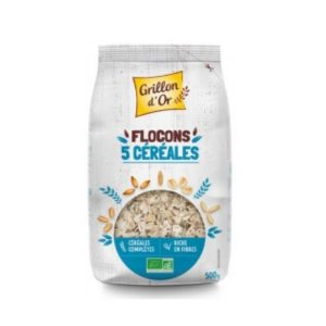 FLOCONS 5 CEREALES TOASTÉES 500g - GRILLON D OR / CANOPY
