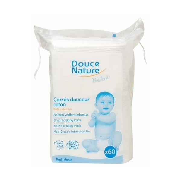 Carrés Douceur Coton 60 Unités - DOUCE NATURE / CANOPY