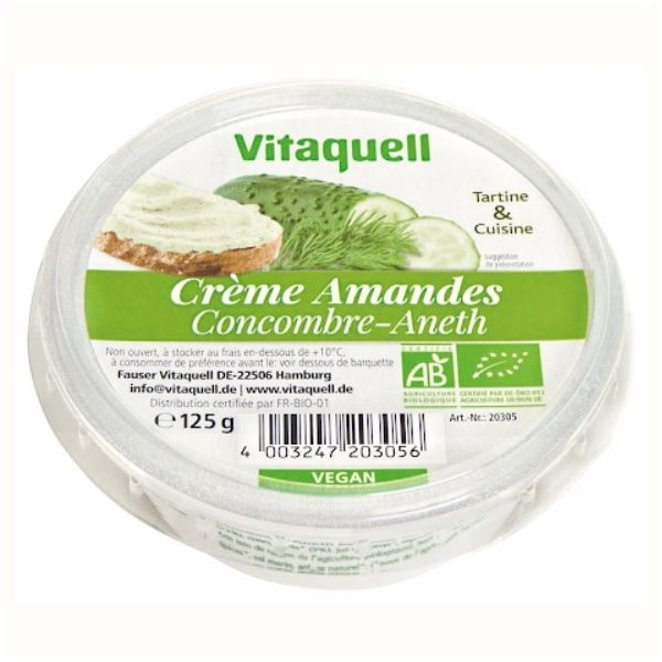 CREME AMANDES CONCOMBRES ANETH 125G – VITAQUELL / CANOPY