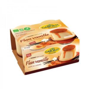 FLAN VANILLE NAPPE CARAMEL  4 X100g- GABORIT