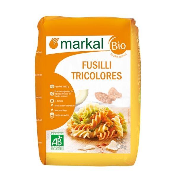 FUSILLI 3 COULEURS 500g - MARKAL / CANOPY