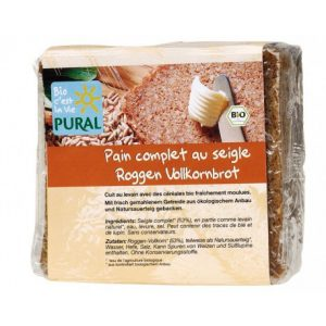 PAIN COMPLET SEIGLE  375g  - PURAL