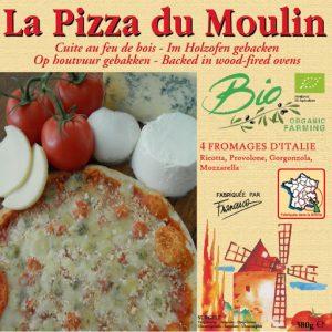 Pizzas 4 fromages d' Italie  380g - PIZZA DU MOULIN