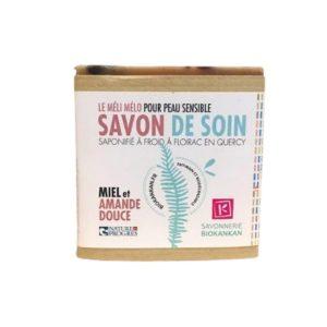 SAVON PEAU SENSIBLE MIEL & AMANDE 100g - KANKAN / CANOPY