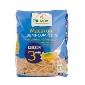 MACARONI DEMI-COMPLETS CUISSON RAPIDE 500g - PRIMÉAL / CANOPY