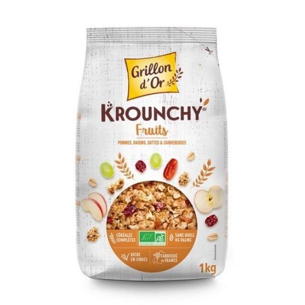 KROUNCHY FAMILIAL AUX FRUITS 1kg - GRILLON D'OR / CANOPY