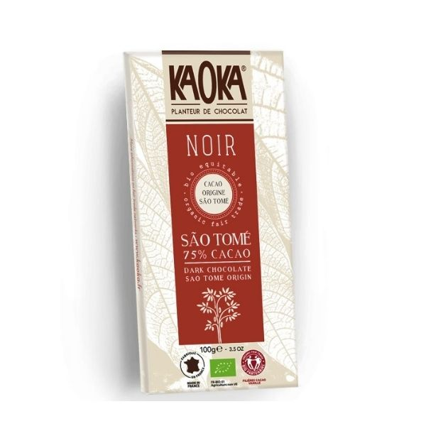 KAOKA CHOCOLAT NOIR 75% SAO TOME 100g - KAOKA / CANOPY