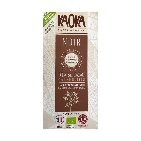 KAOKA CHOCOLAT NOIR ÉCLATS DE CACAO 100g - KAOKA / CANOPY