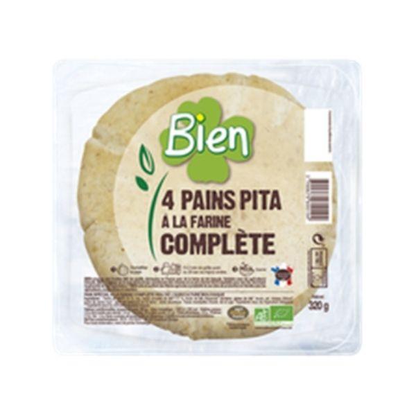 PAIN PITA A LA FARINE COMPLÈTE 320g - BIEN / CANOPY