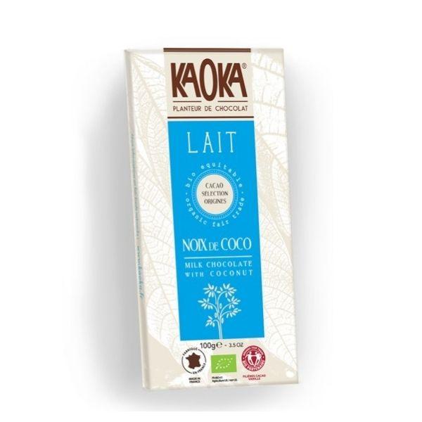 CHOCOLAT AU LAIT 32% NOIX DE COCO 100g - KAOKA / CANOPY