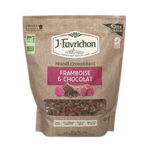 MUESLI CROUSTILLANT FRAMBOISE CHOCOLAT 500G - FAVRICHON / CANOPY