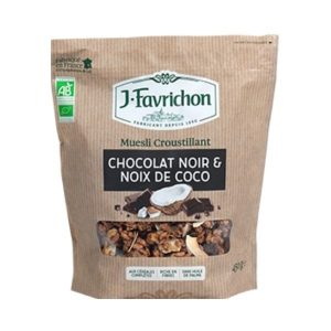 MUESLI CROUSTILLANT CHOCOLAT ET NOIX DE COCO 450G - FAVRICHON / CANOPY
