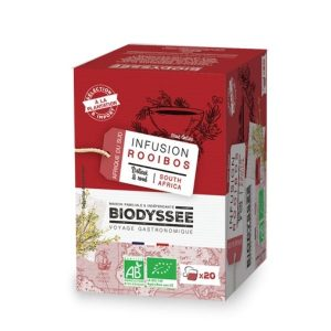 INFUSETTES ROOIBOS NATURE D'AFRIQUE DU SUD X20 - BIODYSSEE / CANOPY