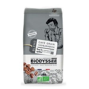 CAFÉ GRAINS 100% ARABICA MEDIUM 1kg - BIODYSSÉE / CANOPY