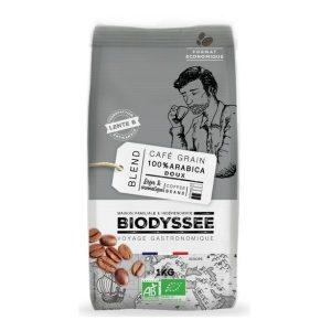 CAFÉ GRAINS 100% ARABICA DOUX 1kg - BIODYSSÉE / CANOPY
