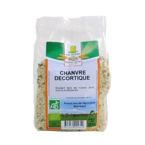 GRAINES DE CHANVRE DECORTIQUÉ 250g - MOULIN DES MOINES / CANOPY