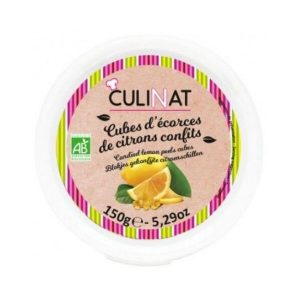 CUBES ÉCORCES CITRONS CONFITS 150g - CULINAT / CANOPY