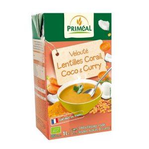 VELOUTÉ LENTILLES CORAIL, COCO & CURRY 1L - PRIMÉAL / CANOPY