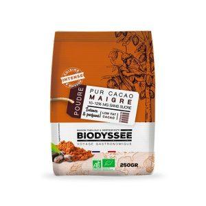 PUR CACAO MAIGRE 10-12% MG sans sucre 250g - BIODYSSÉE / CANOPY