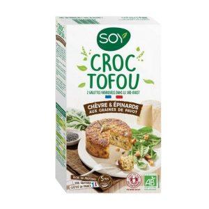 CROQ'TOFOU CHÈVRE EPINARDS 2X100g - SOY