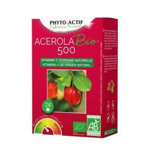 ACÉROLA BIO 500 X24 - PHYTO-ACTIF / CANOPY