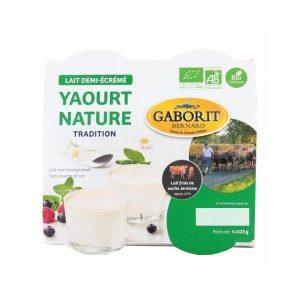 YAOURT NATURE 1/2 ÉCRÉMÉ 4X125g - GABORIT / CANOPY