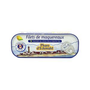 FILETS MAQUEREAUX MARINADE CITRON BASILIC BIO -DE SEL 130g - PHARE D'ECKMUHL / CANOPY