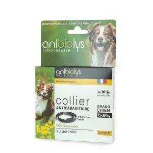 COLLIER CHIEN ANTIPARASITAIRE 15 A 30KG - ANIBIOLYS / CANOPY