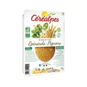 GALETTE EPINARDS/PIGNONS 2X90g - CEREALPES / CANOPY