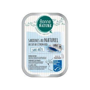 LOT SARDINES AU NATUREL CITRON - 3 x 115g - BONNE NATURE / CANOPY