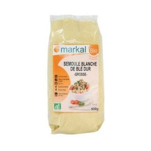SEMOULE BLANCHE DE BLE DUR GROSSE 500g - MARKAL / CANOPY