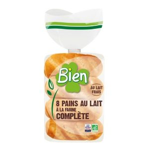 PAIN AU LAIT BIO A LA FARINE COMPLETE 280g - BIEN / CANOPY
