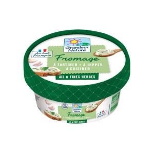 FROMAGE À TARTINER AIL & FINES HERBES 150g - GRANDEUR NATURE / CANOPY