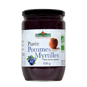 PURÉE POMMES MYRTILLES 630g - COTEAUX NANTAIS / CANOPY
